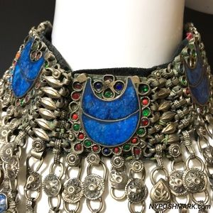 Jewelry - SOLD! Gypsy Tribal Belly Dance Lapis Necklace 1970